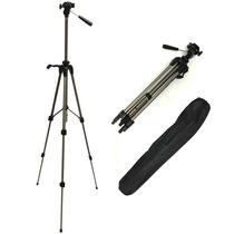 Tripe P/ Camera Digital E Filmadora 1,40mt Wt3710 Com Bolsa!