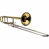 Trombone De Vara Tenor Em Bb/f Hsl-801l Laqueado Harmonics