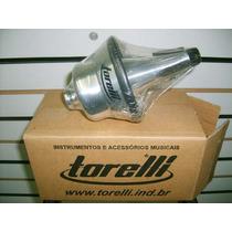 Surdina P/ Trumpet Ta-114 Cup Mut Em Alumínio Polido N/f Lj