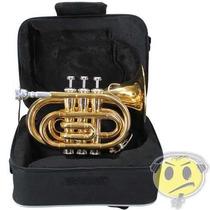 Trompete Pocket Eagle Tp520 Laqueado + Estojo Extra Luxo