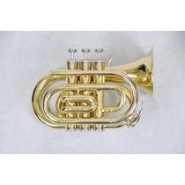 Trompete Pocket Suzuki Jbmt-500lq Laqueado Si Bemol