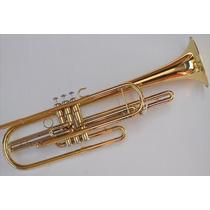 Trompete Dourado Sterling Sib Grave Acompanha Estojo De Luxo