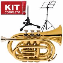 Kit Trompete Eagle Pocket Tp 520 L Frete Grátis Brasil