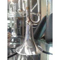 Trompete Sib Prata C/ Estojo E Acessórios