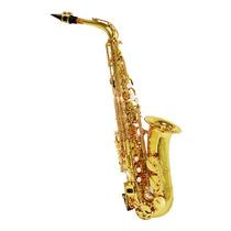 Saxofone Alto Shelter Sft-6430l Com Case