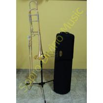 Trombone De Vara Tenor Bb / F Modelo Profissional - Hoyden