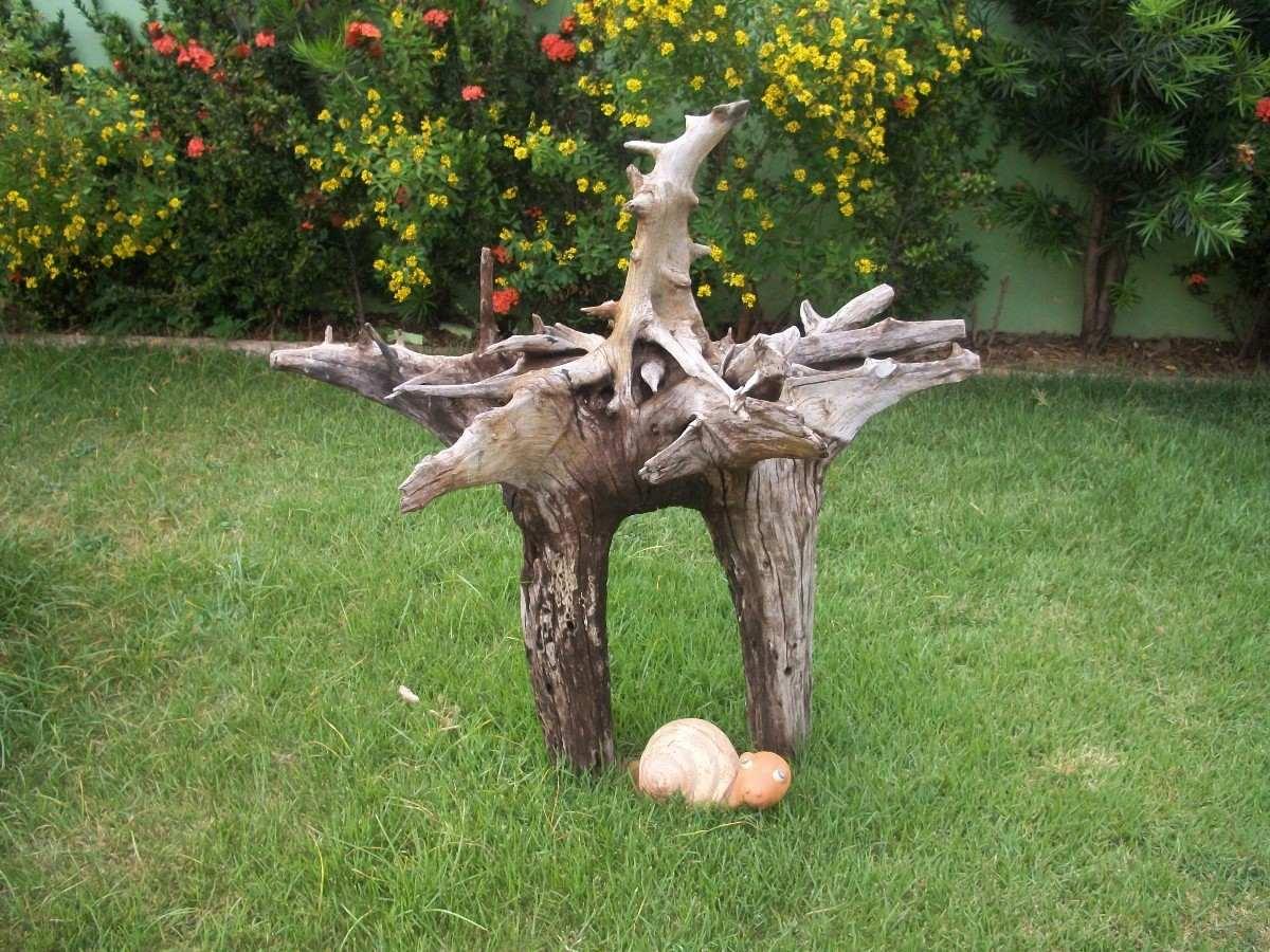 imagens de enfeites para jardim:Tronco De Aroeira Enfeite Para Aquários Grandes E Jardins – R$ 2.000
