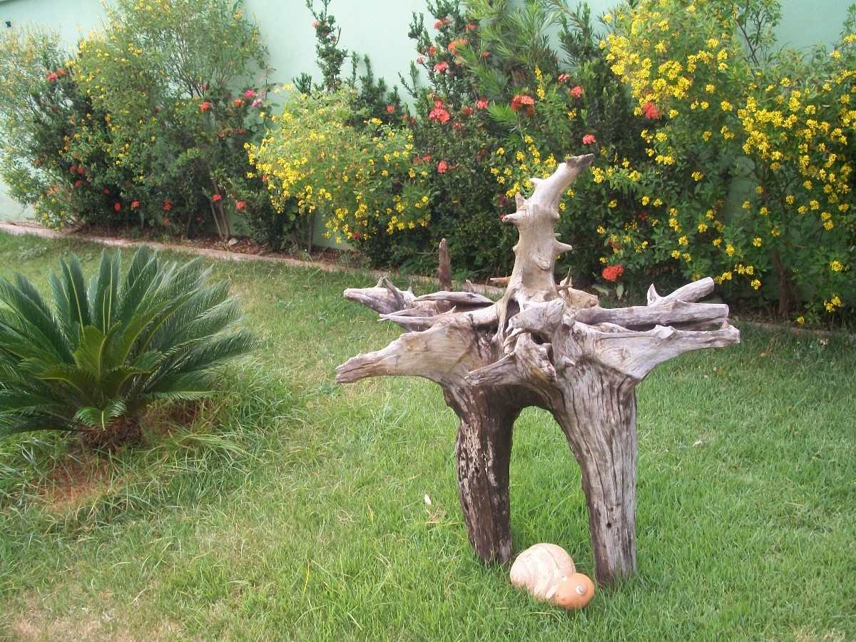 Enfeite De Jardin ~ tronco de aroeira enfeite para aquários grandes e jardins