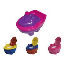 Troninho Infantil Musical 2x1 Urso Rosa-azul-lias-vermelho