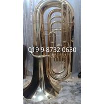 Tuba Sinfônica J981 2015 Weril 4/4 Bbb Sib 4 Pistos Laqueado