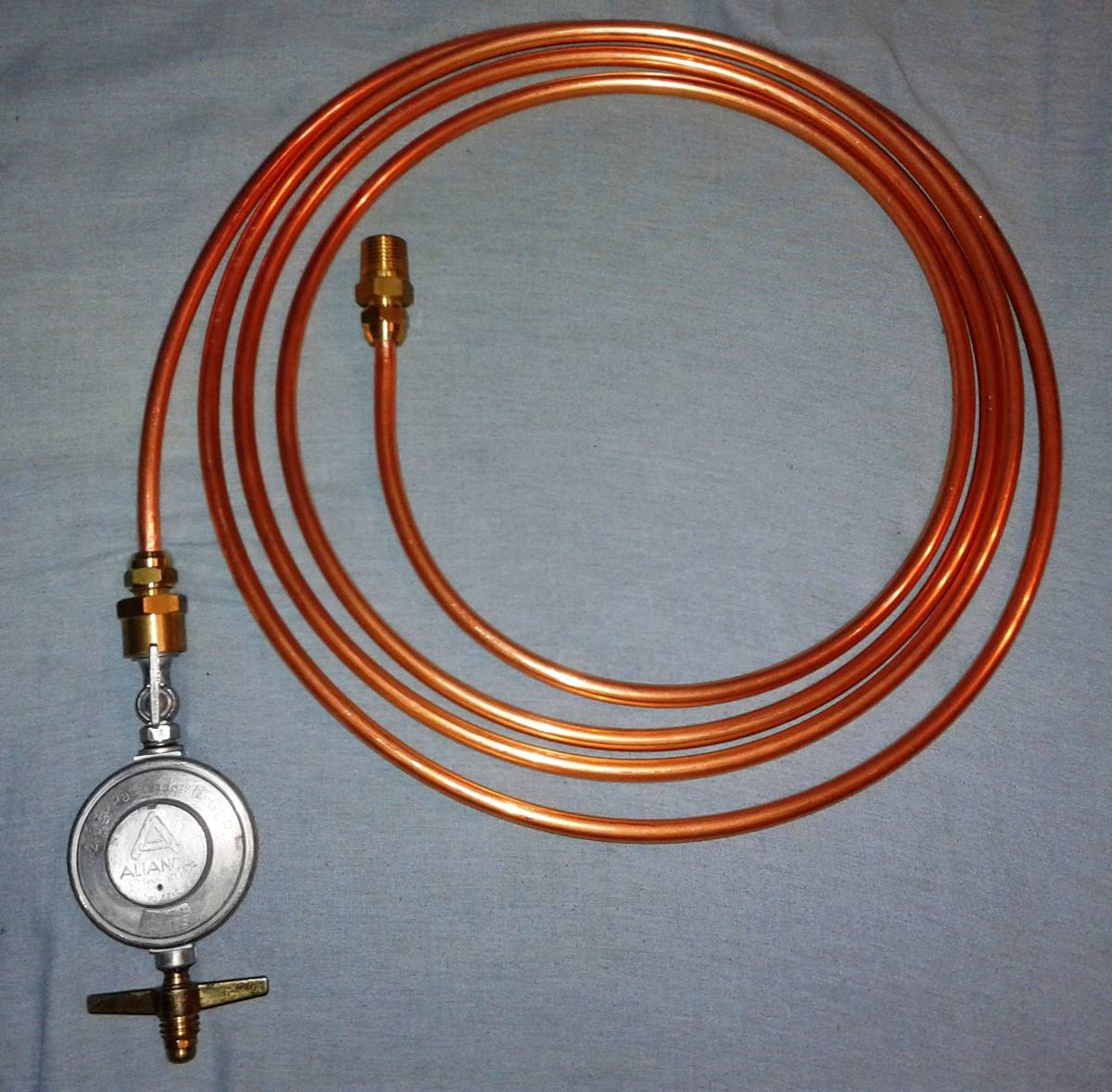 Tubo de cobre 3 8 flex gas 6mts registro adaptadores - Tubo de cobre para gas ...
