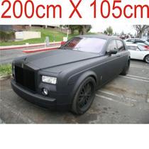 Adesivo Preto Fosco Automotivo Envelopamento Teto 200x105cm