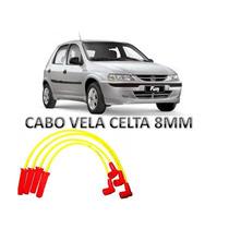 Cabo Vela Ignicao 8mm Silicon Amarelo Corsa Celt Cobal Prism