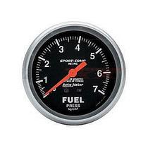 Manometro Autometer Sport Comp Pressão De Combustível 7 Kg