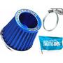 Filtro Ar Esportivo Azul P/ Motor Ap Injeção Frete Gratis !
