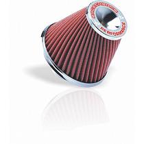 Filtro De Ar Esportivo Mono Fluxo 15cm Twister Vermelho