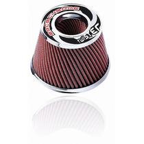 Filtro De Ar Esportivo Duplo Fluxo 15cm Twister Vermelho