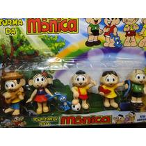 06 Bonecos Turma Da Monica Com Altura De 10 Cm