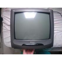 Tv Sharp 14 Polegadas Com Controle Remoto Entrada Av