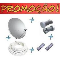 03 Antenas 90 Cm R$ 240.00 Completas. Lnb Simples + Cabo