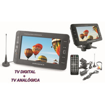 Tv 7 Polegadas Digital E Analogica Com Bateria Powerpack 786