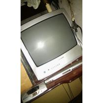 Televisão 20 Polegadas, Com Controle E Aparelho De Dvd