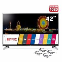 Smart Tv Cinema 3d Led 42 Full Hd Lg 42lf6500 4 Oculos Wifi
