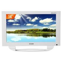 Tv Led 14 Hd Cce Ln14gw Com Conversor Digital Sistema Carro