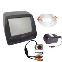 Kit Cftv Segurança Completo Monitor Camera Cabo E Fonte