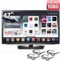 Tv Smart 3d 47 Led Lg 47lm6200 Full Hd - Frete Grátis!
