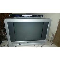 Kit Tv Gradiente 21 Polegadas Tela Plana + Dvd Philco Divix