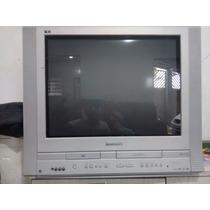 Tv Panasonic 29 Tela Plana Com Dvd E Vhs Integrados