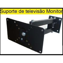 Suporte Tv Bi-articulado De 14 A 32 Pol Led,plasma E Lcd