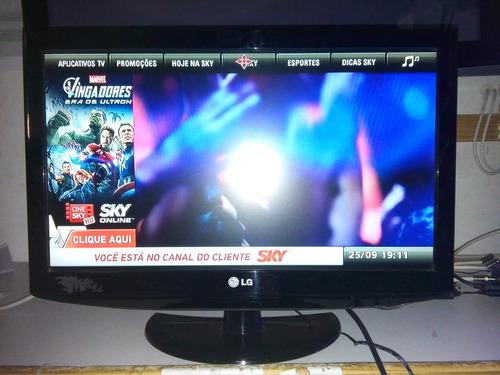Fotos De Sala Com Tv Lcd Na Parede ~ Tv Lcd 22 Polegadas Lg + Suporte Para Fixação Na Parede  R$ 400,00