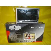 Tv. Lcd Portatil 7 Nova,sp-707 Usb, Cx. Lacrada Silver
