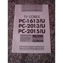 Manual De Instruções Tv A Cores Philco Hitachi Pc