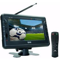 Tv Portatil Analogica Colorida Tela Lcd 7 Pol Bak7190
