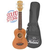 Ukulele Soprano Kalani Natural Acustico C/ Capa Sound Store