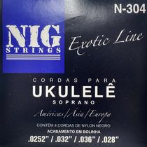 Encordoamento / Corda Nig Ukulele Soprano Nylon Preto - N304