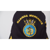 Boné Chapeu Marinha Mercante Do Brasil Comandante / Oficial