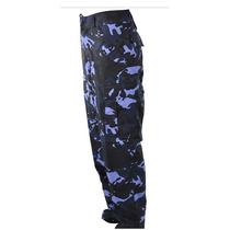 Calça Tática Camuflada Woodland Azul - Paintball/guarda