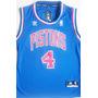 Camisa Regata Basquete Nba Time Detroit Pistons Azul Dumars