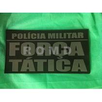 Placa De Identificação Colete Polícia Militar Força Tática