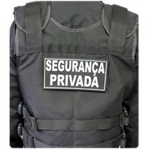 Emborrachado Capa De Colete Segurança Privada 20 X 10cm