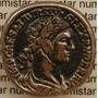 Antigo Botão Militar Estilo Império Romano A Catalogar Prata