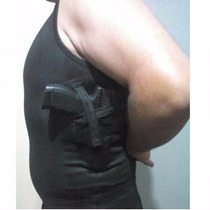 Camisa Em Elastano Porta Coldre- Regata-