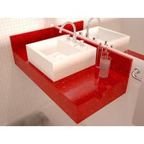 Lavatório Quartzo Vermelho Estrelar - (igual Silestone)