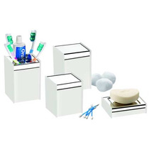 Conjunto Para Banheiro Quadrata Branco - Brinox