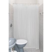 Cortina Box P/ Banheiro 100% Pvc Clean C/ Kit Instalação