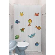 Cortina Box P/ Banheiro Estampada Clean C/ Kit Instalação